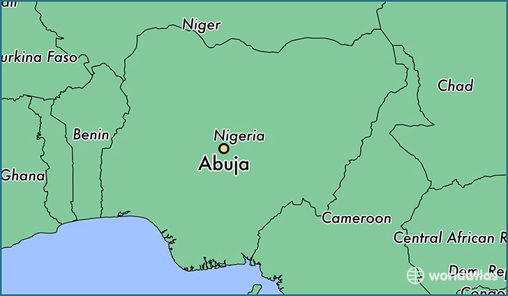 map showing the location of Abuja