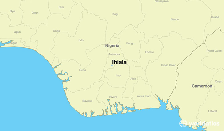 map showing the location of Ihiala