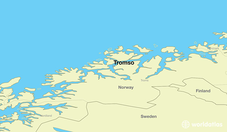 Where Is Tromso Norway Tromso Troms Map WorldAtlascom - Map of cities in norway