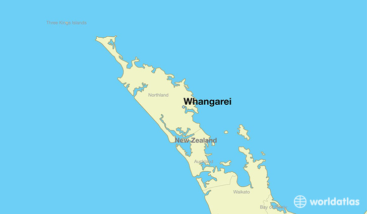map showing the location of Whangarei