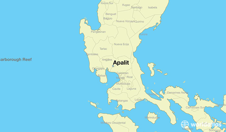 map showing the location of Apalit