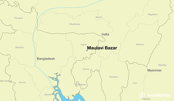 map showing the location of Maulavi Bazar