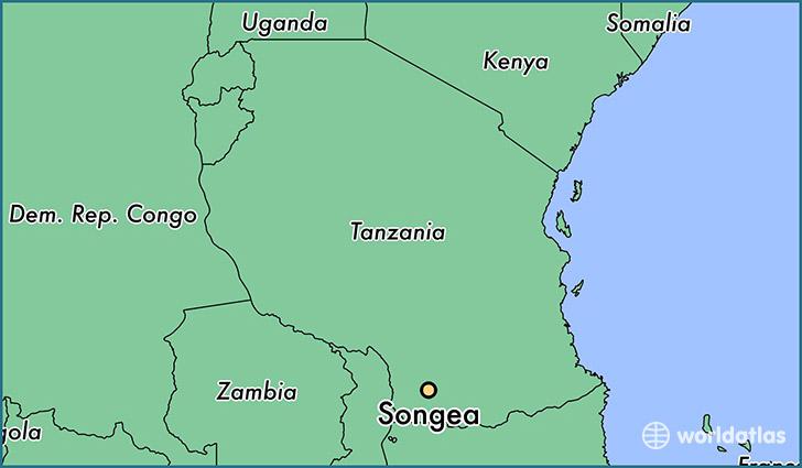 map showing the location of Songea