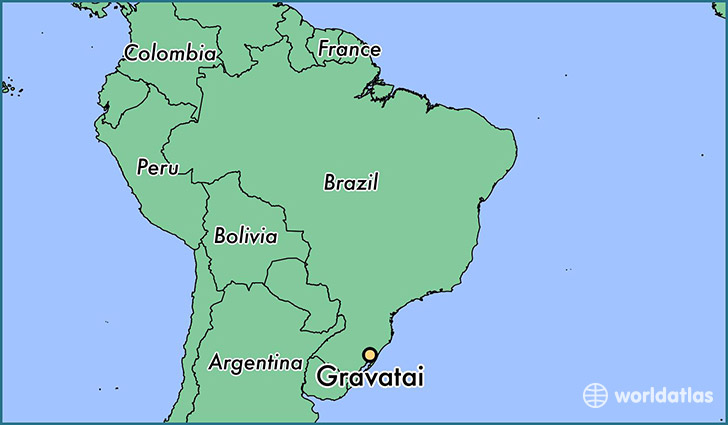 map showing the location of Gravatai