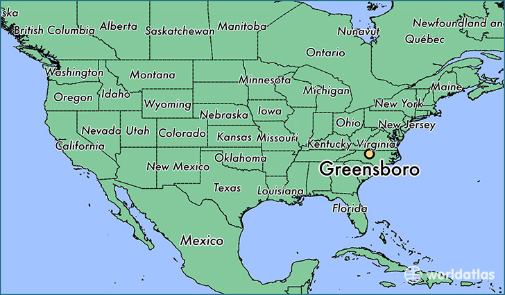 Where is Greensboro NC Greensboro North Carolina Map