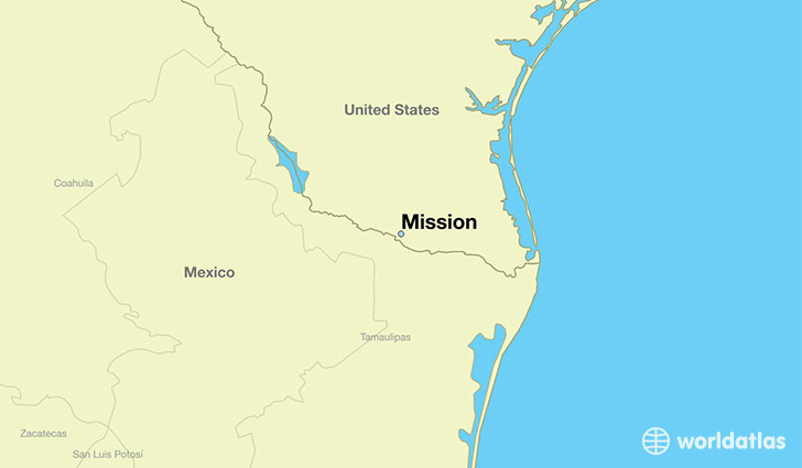map showing the location of Mission