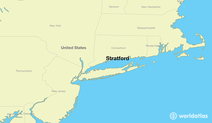 map showing the location of Stratford