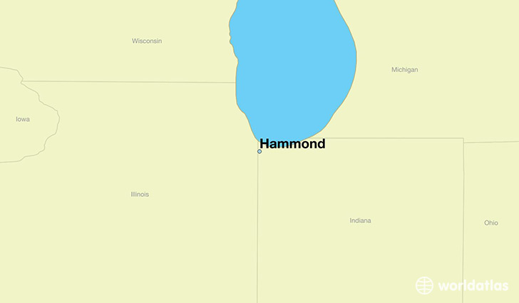 map showing the location of Hammond