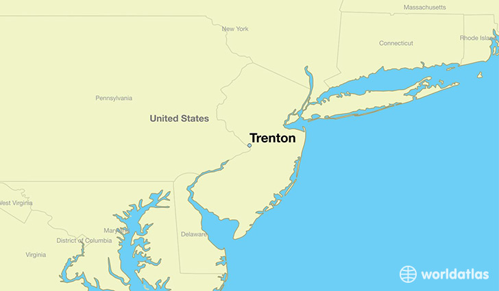 Where is Trenton, NJ? / Trenton, New Jersey Map - WorldAtlas.com