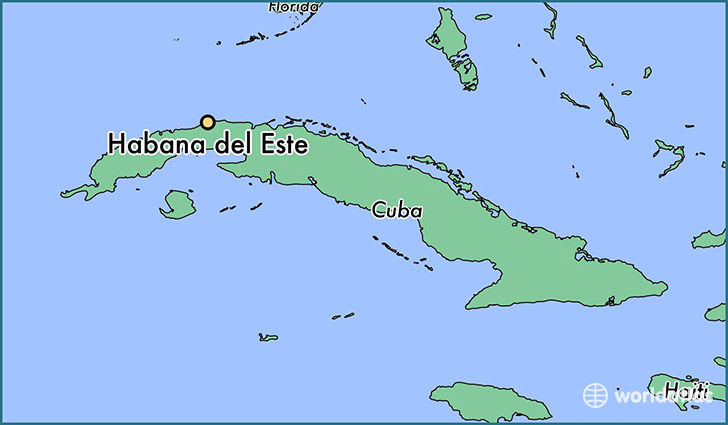 map showing the location of Habana del Este