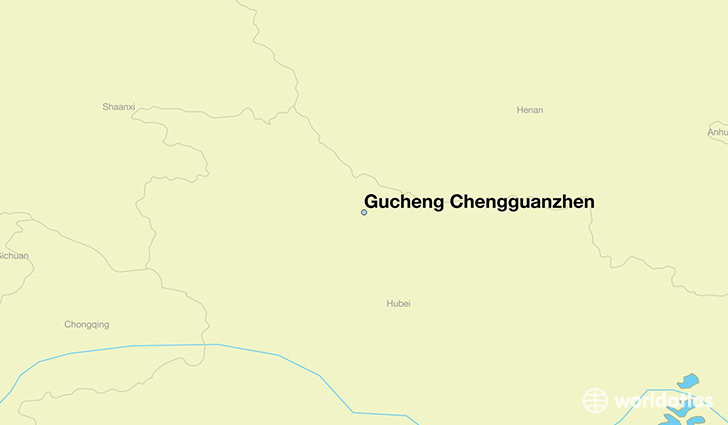 map showing the location of Gucheng Chengguanzhen
