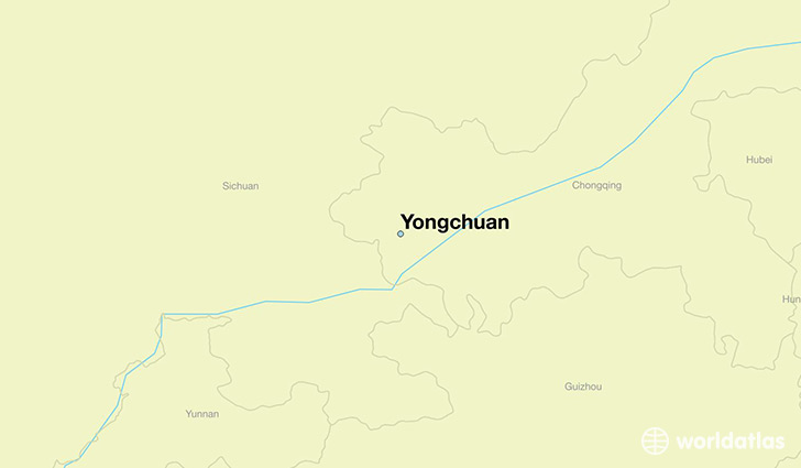 map showing the location of Yongchuan