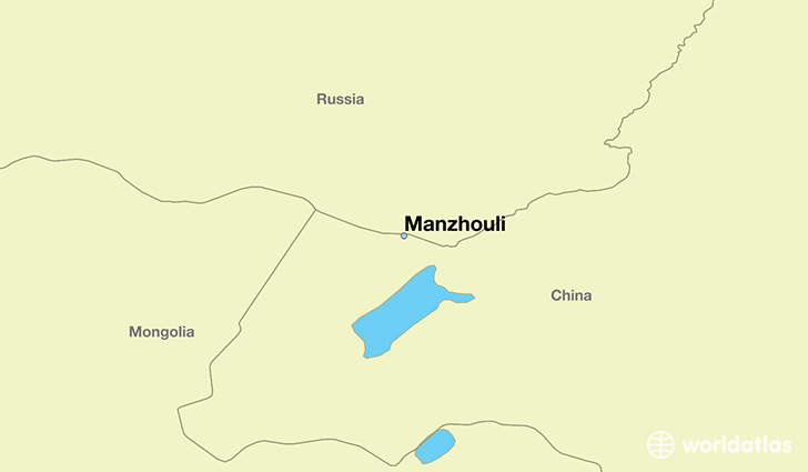 map showing the location of Manzhouli