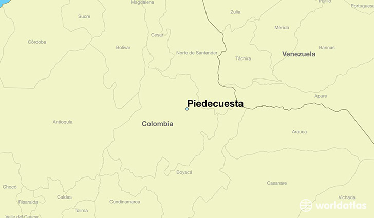 map showing the location of Piedecuesta
