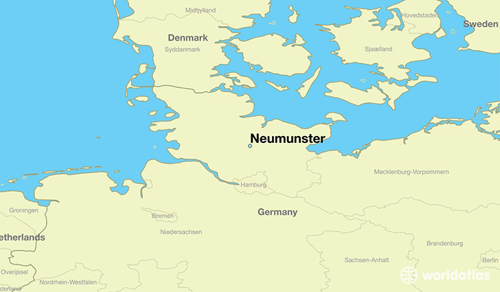 map showing the location of Neumunster