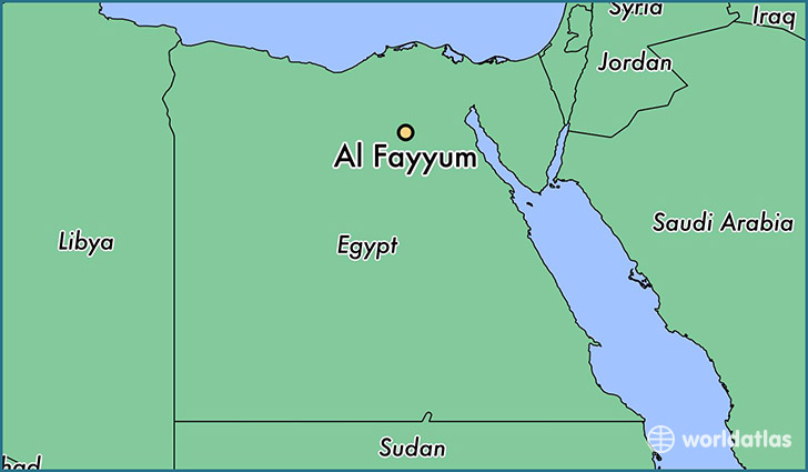 map showing the location of Al Fayyum