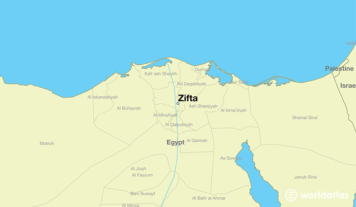 map showing the location of Zifta