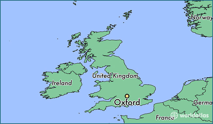 Where Is Oxford England Oxford England Map WorldAtlascom - Where is oxford located
