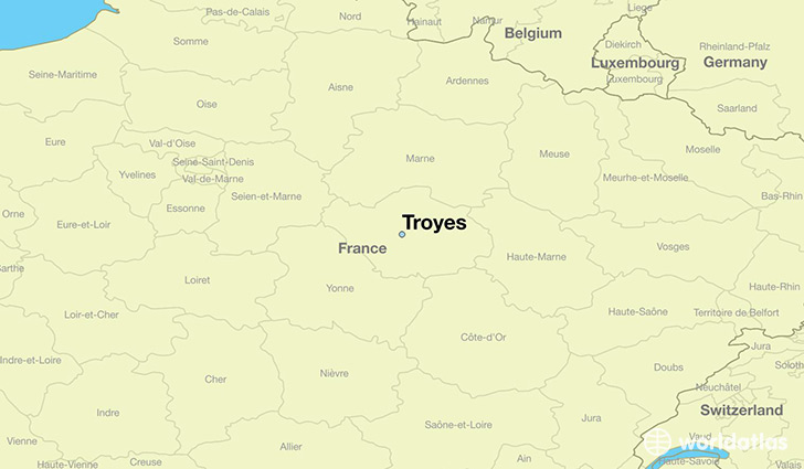 Where is Troyes France Troyes ChampagneArdenne Map