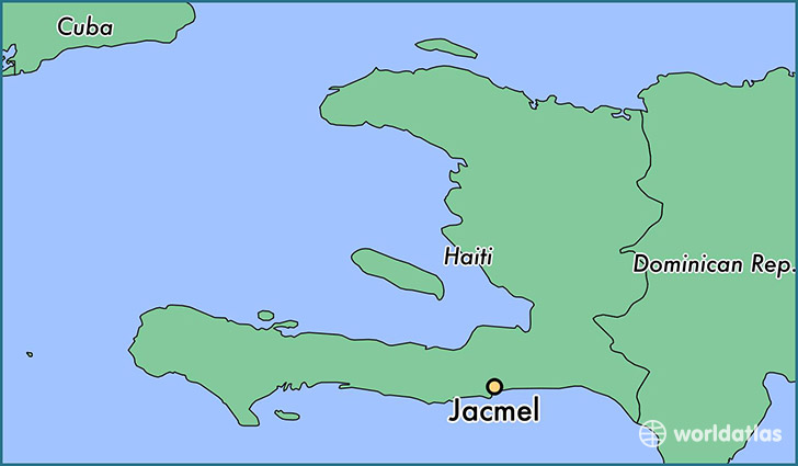 map showing the location of Jacmel