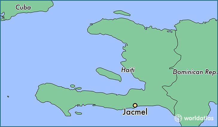 Where is Jacmel Haiti Jacmel SudEst Map WorldAtlascom
