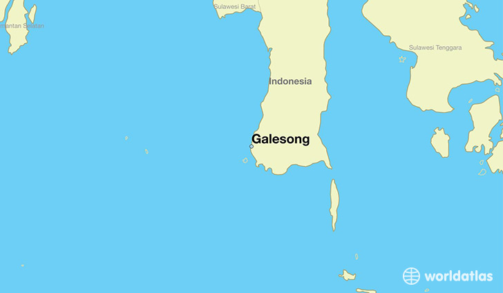 map showing the location of Galesong