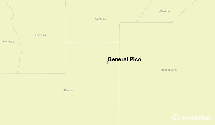 map showing the location of General Pico