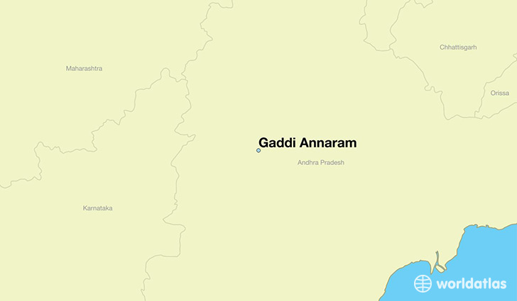 map showing the location of Gaddi Annaram