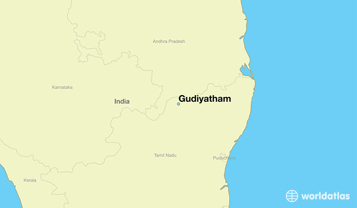 map showing the location of Gudiyatham
