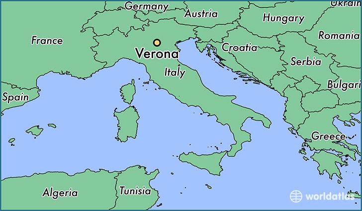 Where Is Verona Italy Verona Veneto Map Worldatlas Com