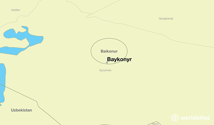 map showing the location of Baykonyr