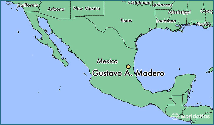 map showing the location of Gustavo A. Madero