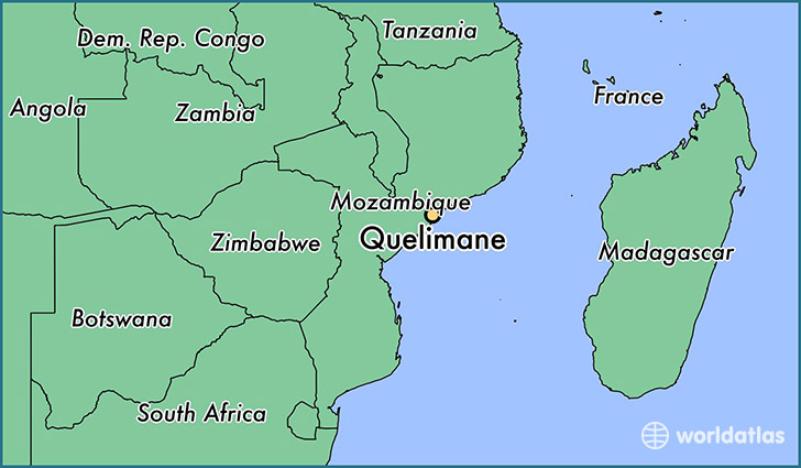 map showing the location of Quelimane