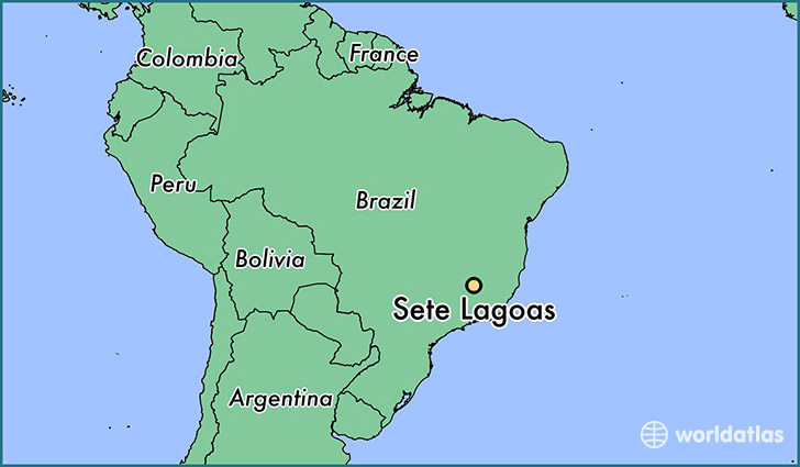 map showing the location of Sete Lagoas