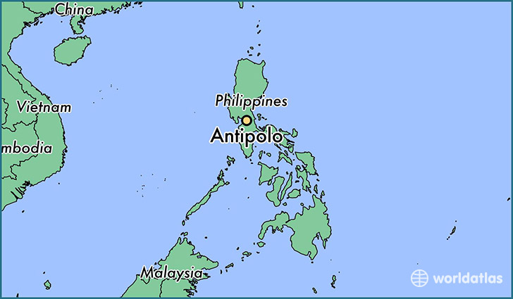 map showing the location of Antipolo