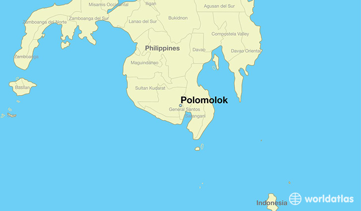 map showing the location of Polomolok