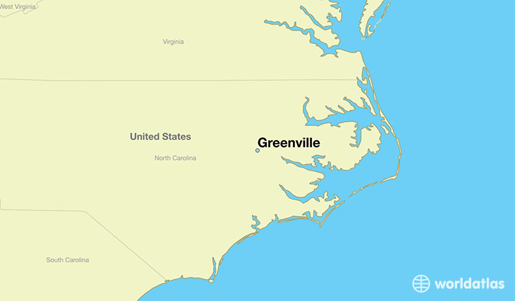 map showing the location of Greenville