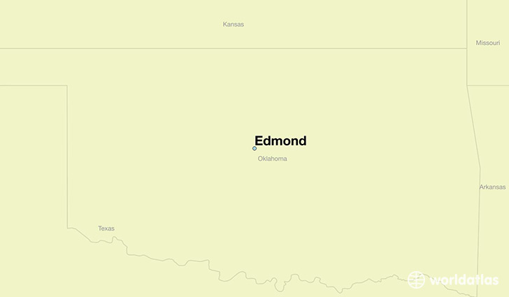 map showing the location of Edmond