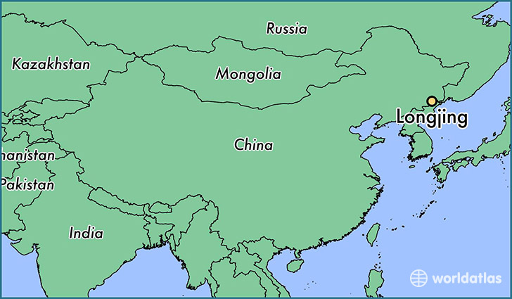 map showing the location of Longjing
