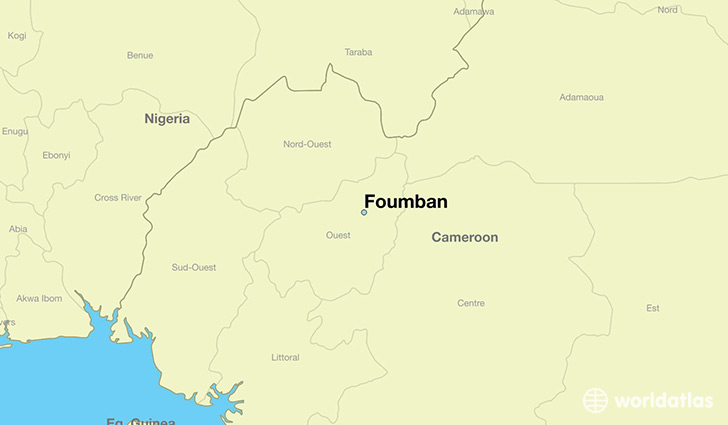 map showing the location of Foumban
