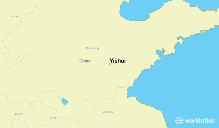 map showing the location of Yishui