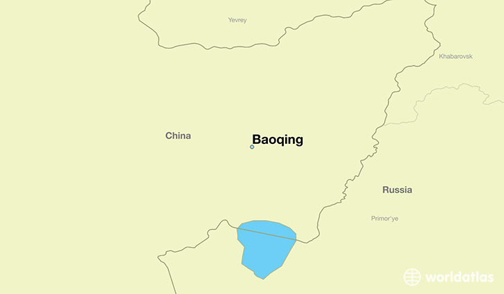 map showing the location of Baoqing