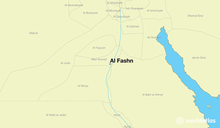 map showing the location of Al Fashn