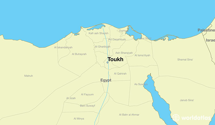 map showing the location of Toukh