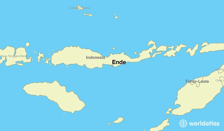 map showing the location of Ende