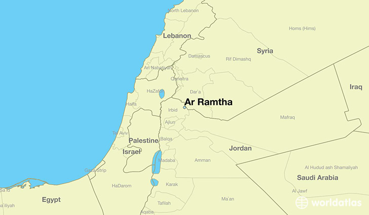 map showing the location of Ar Ramtha