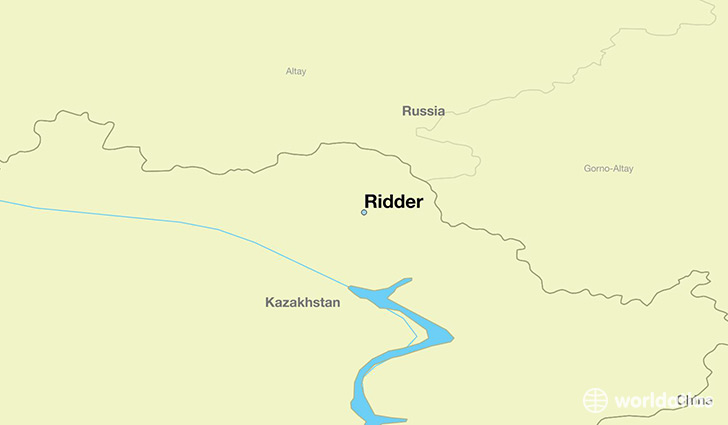 map showing the location of Ridder