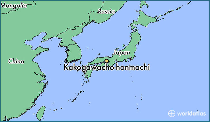 map showing the location of Kakogawacho-honmachi
