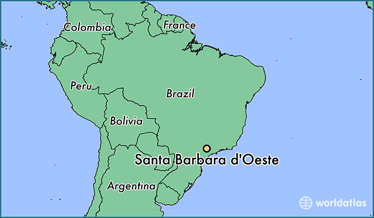 map showing the location of Santa Barbara d'Oeste