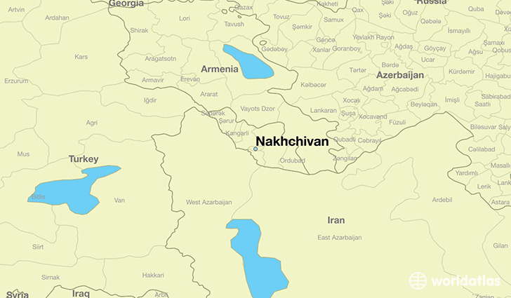 map showing the location of Nakhchivan